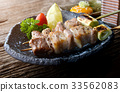 Butabara yakitori or Japanese bacon pork grill. 33562083