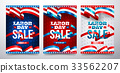 Happy Labor Day with American flag background 33562207