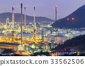 Oil refinery with tube and oil tank  33562506