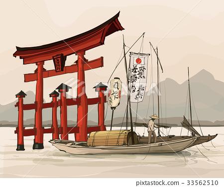 Floating gate of Itsukushima Shrine 33562510