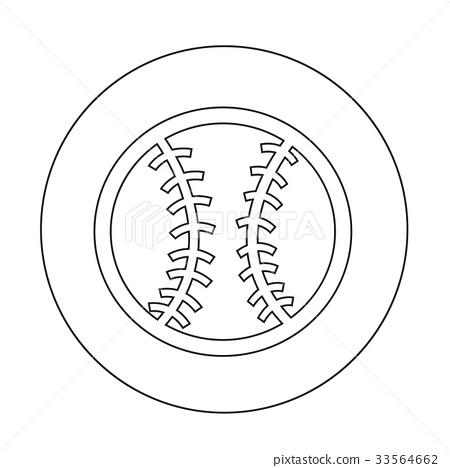 baseball icon illustration design 33564662