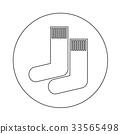 sock icon illustration design 33565498