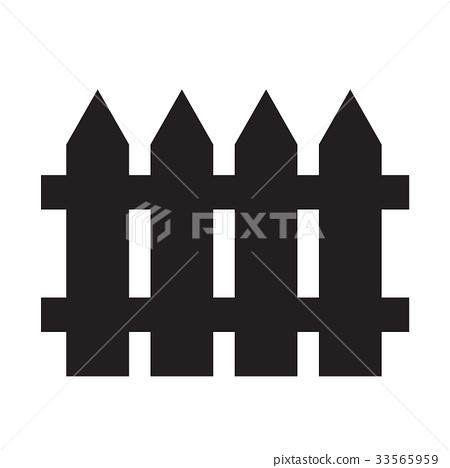 fence icon illustration design 33565959