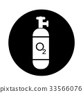 Oxygen Cylinder icon illustration design 33566076
