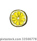 vector, lemon, ripe 33566778