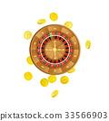 vector, casino, roulette 33566903