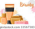 Cosmetics for skincare and makeup. Background for 33567383