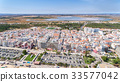 Aerial. Tourist city Monte Gordo, view from the 33577042
