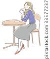 咖啡馆女性 33577237
