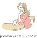 咖啡馆女性 33577239