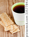 cup of tea and crackers 33577841