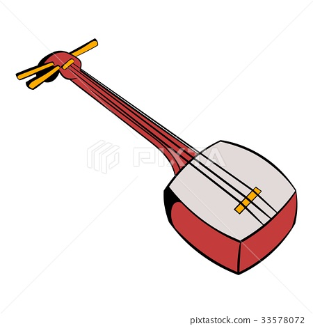 Traditional Japanese shamisen icon cartoon 33578072