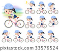 shortsleeved shirt Sailor suit_rode bicycle 33579524