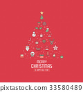 Christmas greeting card or invitation background. 33580489