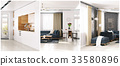 modern apartment composition set 33580896