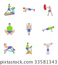 workout, icon, cartoon 33581343