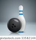 保齡球 向量 向量圖 33582144