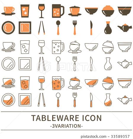 餐具 图标 矢量 33589357