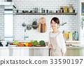 主婦 家庭主婦 廚房 33590197