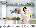 主婦 家庭主婦 廚房 33590204