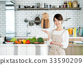 主婦 家庭主婦 廚房 33590209