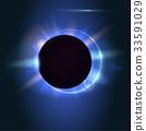 Solar eclipse, astronomical phenomenon - full sun 33591029