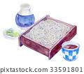 메밀, 수채화, 요리법 33591801