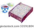 수채화 일러스트 식품 소바 33591804
