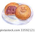 水彩插圖食物 33592121
