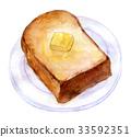 수채화 일러스트 식품 모닝 33592351