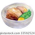 Watercolor illustration food 33592524
