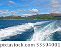 a view from  boat  and the pacific ocean 33594001
