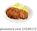 鬆散的炸肉排 33596172