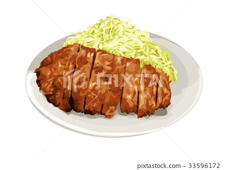 西餐 荤菜 油炸的 33596172