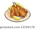 西餐 油炸的 油炸食品 33596176