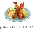 西餐 油炸的 油炸食品 33596177