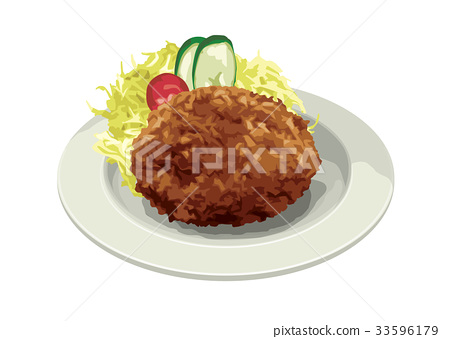 western food, meat dish, fry 33596179