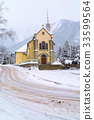 Church in Chamonix town, France, French Alps 33599564