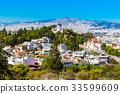Athens skyline, church Agia Marina, Greece 33599609