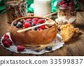 กราโนล่า,เบอร์รี่,อาหาร 33599837