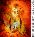 Goddess Woman and butterfly. CFire effect and 33600063