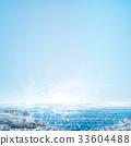 Vector  ocean with blue  sky and  stones beach. 33604488
