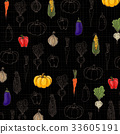 背景 蔬菜 矢量 33605191