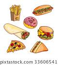 food, fast, vector 33606541
