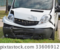 Van after traffic accident 33606912