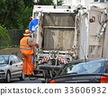 Garbage truck on the street 33606932