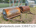 Large rollers for smooth the soccer field 33607123