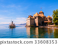 Chillon castle, Lake Geneva, Montreux, Switzerland 33608353