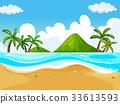 场景 海滩 海洋 33613593