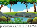 배경, 연못, 벡터 33613756